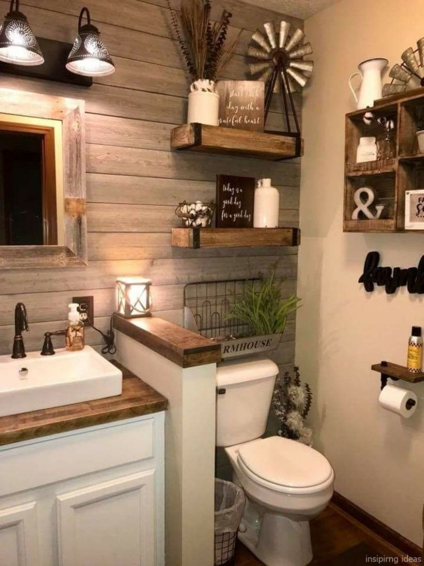 12 Romantic Apartment Decor Ideas For Couple | Farmhouse bathroom ...