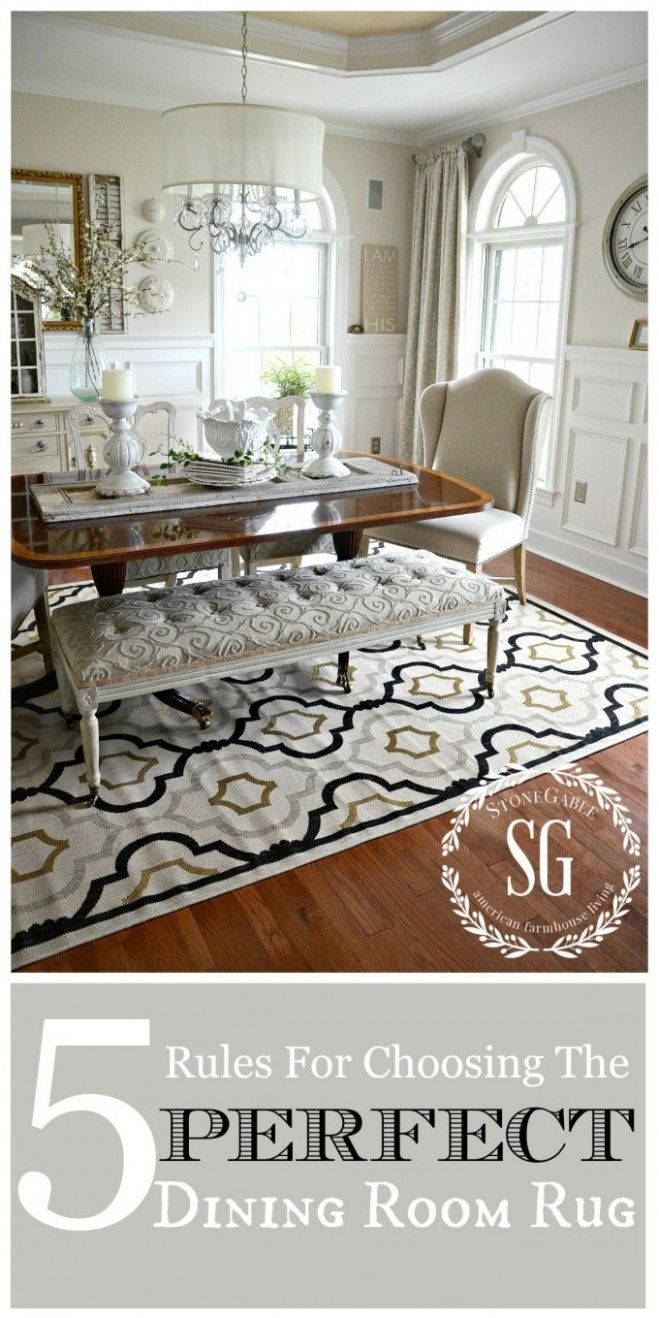 12 RULES FOR CHOOSING THE PERFECT DINING ROOM RUG | Room rugs ...