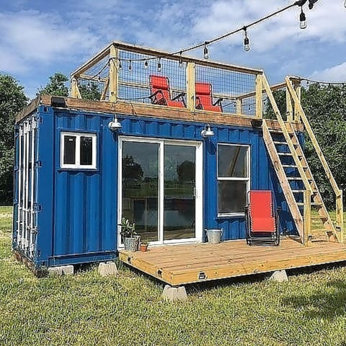 12' Rustic Retreat Shipping Container - Tiny House for Sale in Houston,  Texas - Tiny House Listings
