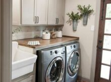 12+ Trendy Small Laundry Room Design Ideas To Try Asap - GAGOHOME