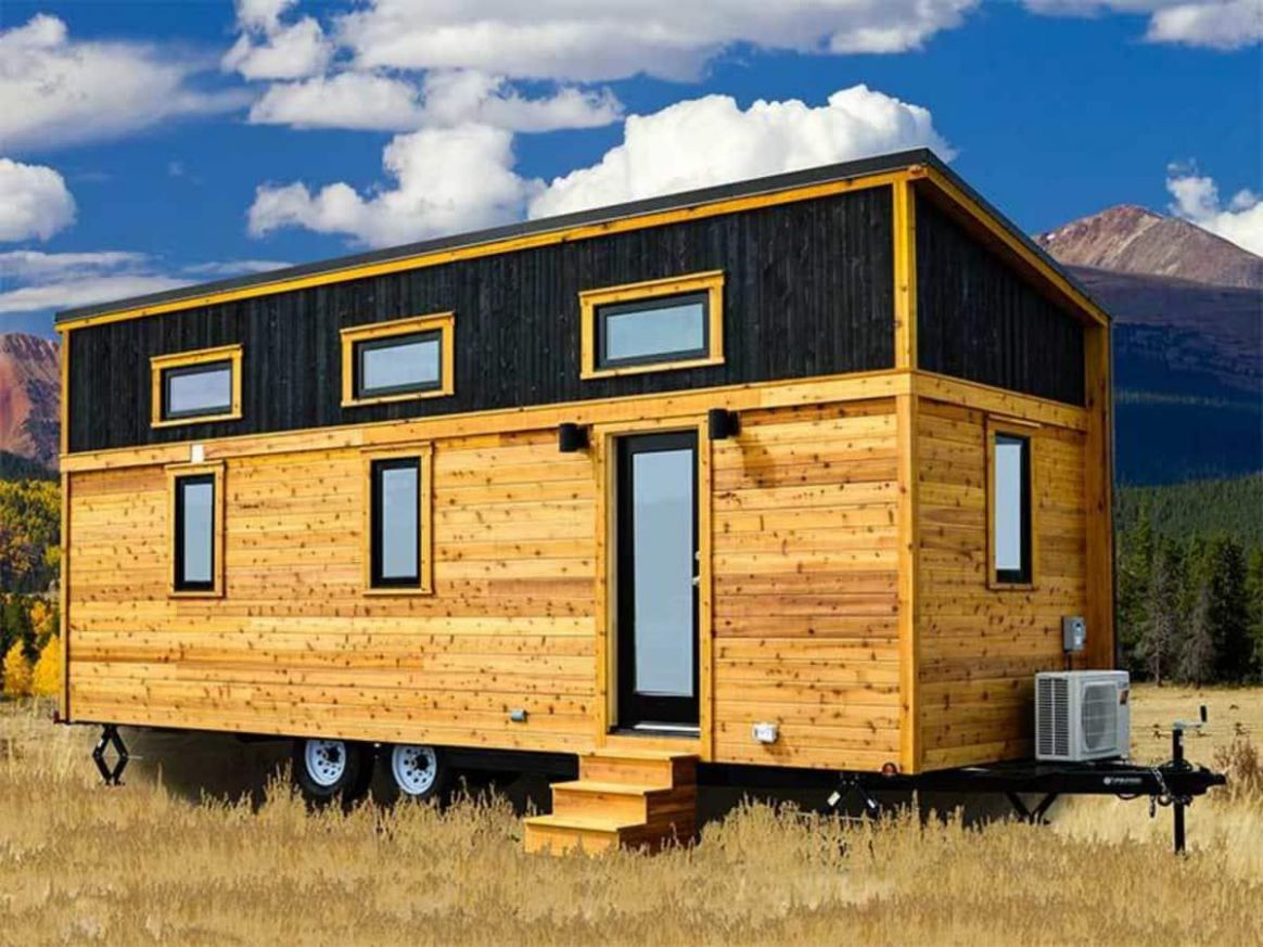 12' Tumbleweed Tiny House with Shed-Style Roof