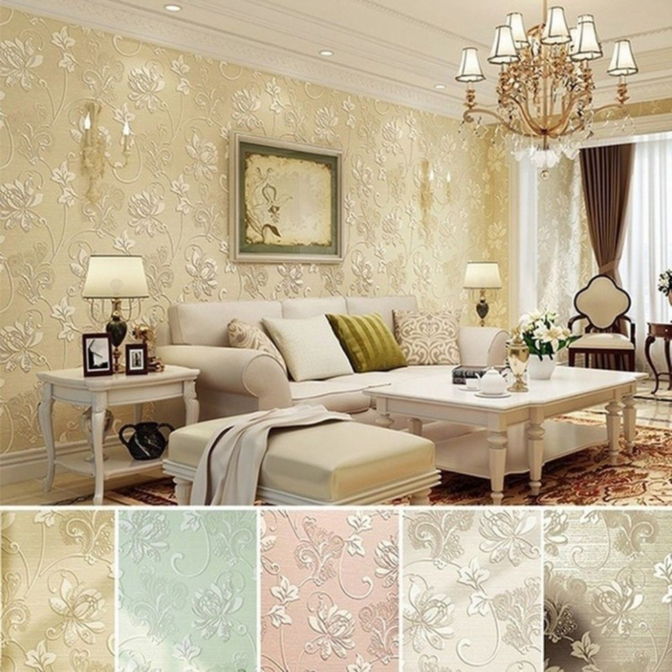 12D Floral Embossed Textured Wall Paper Europe Home Decor - home decor shopee