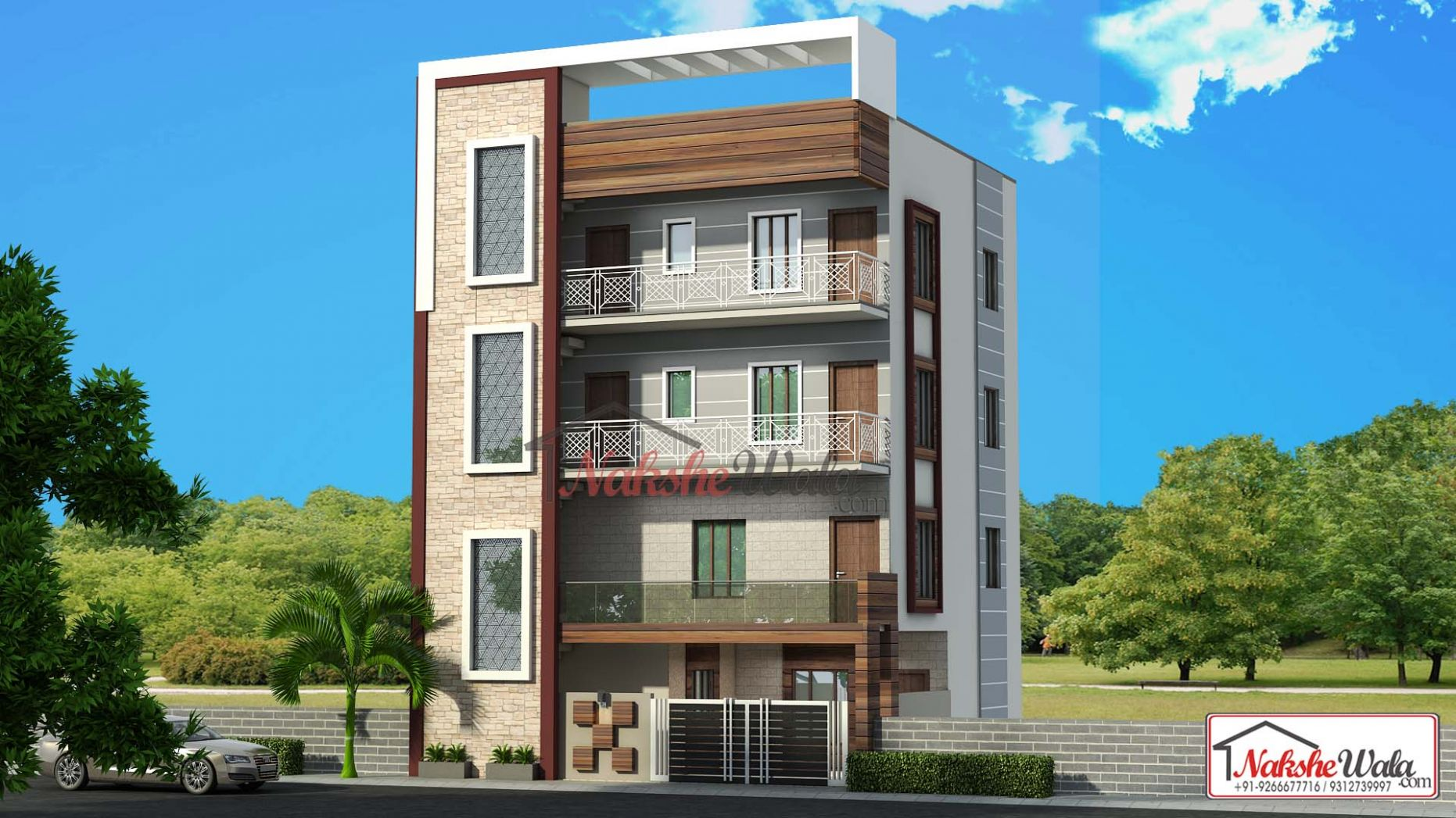 12D Front Elevation Design, Indian Front Elevation, Kerala Style ..