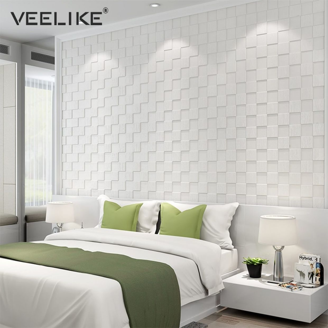 12PCS PE Foam 12D Wall Stickers Safety Home Decor Wallpaper DIY Wall Decor  Mosaic Panels Living Room Bedroom Decorative Wall Paper