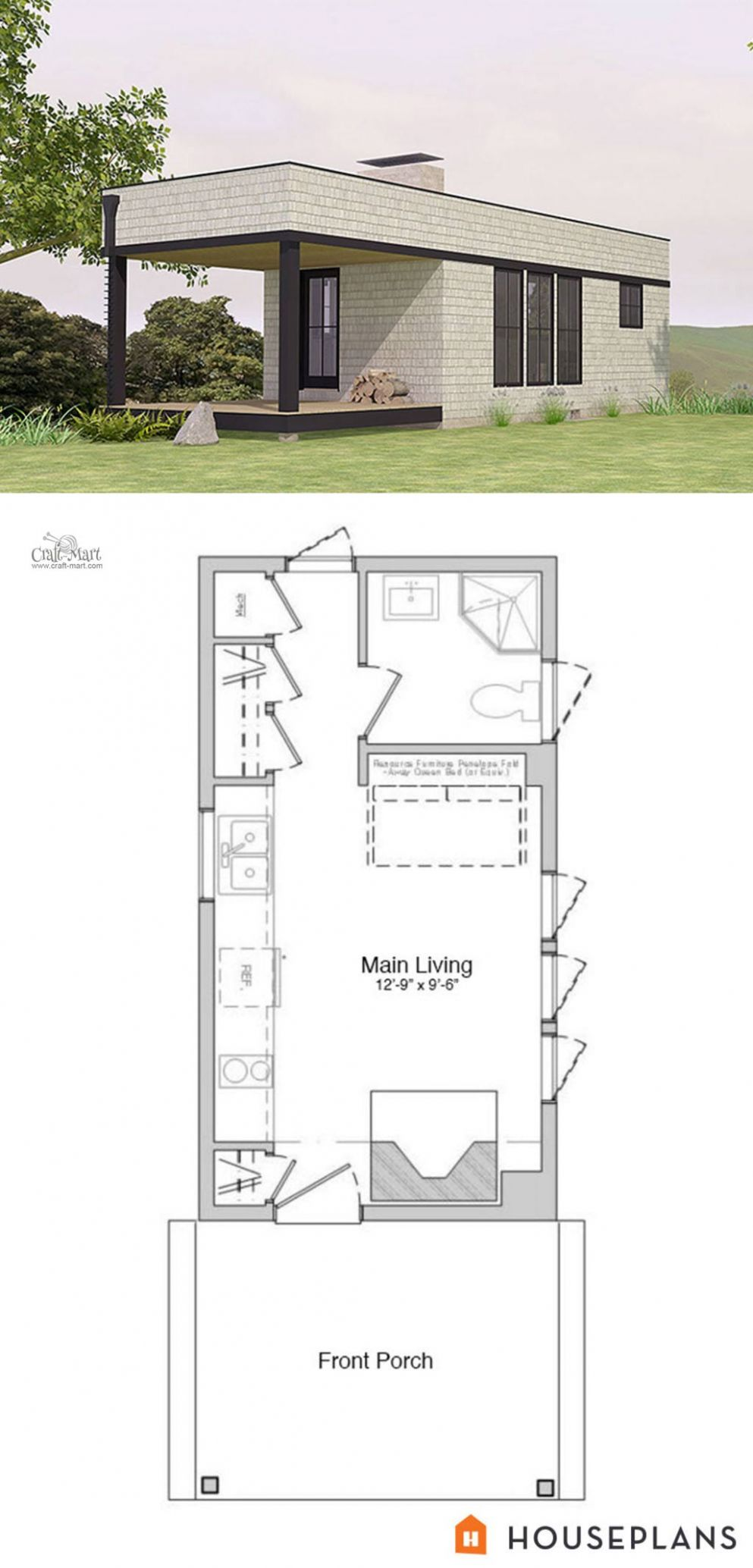 8 Adorable Free Tiny House Floor Plans - Craft-Mart - tiny house plans free