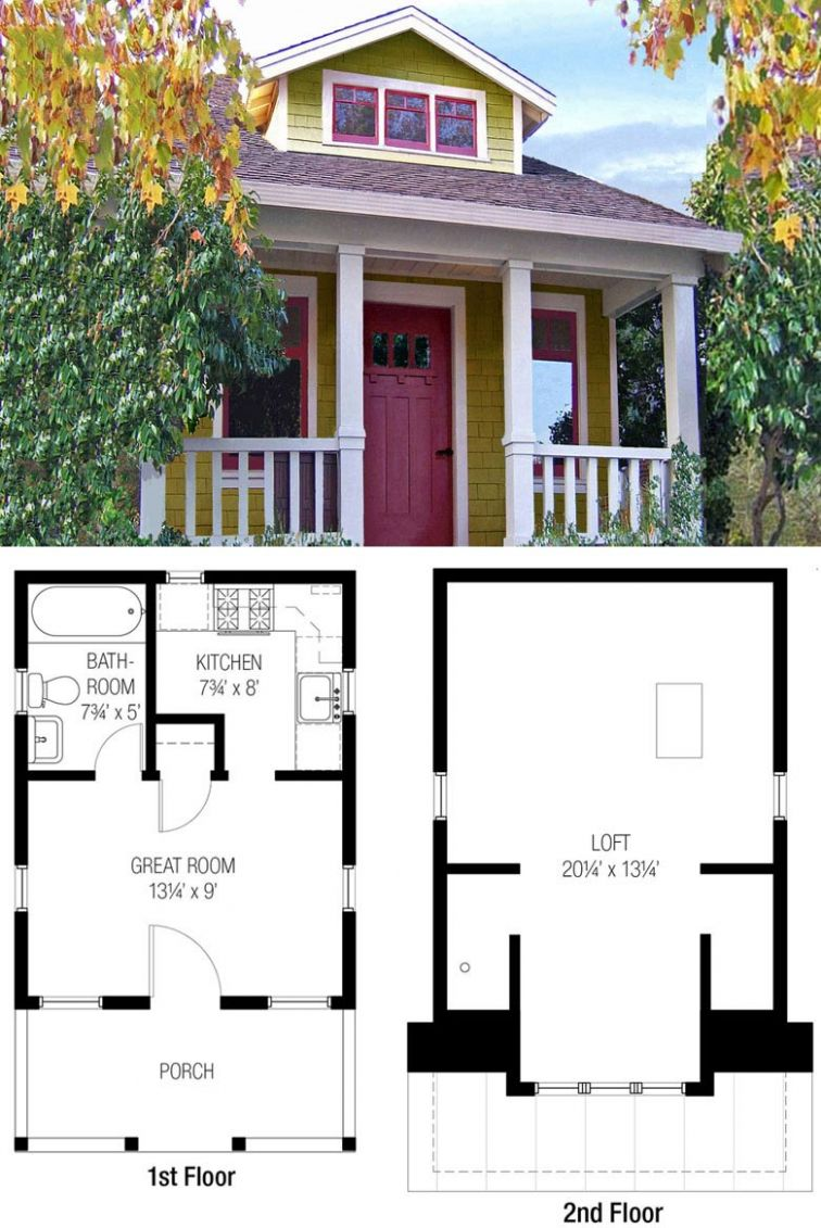 8 Adorable Free Tiny House Floor Plans - Craft-Mart