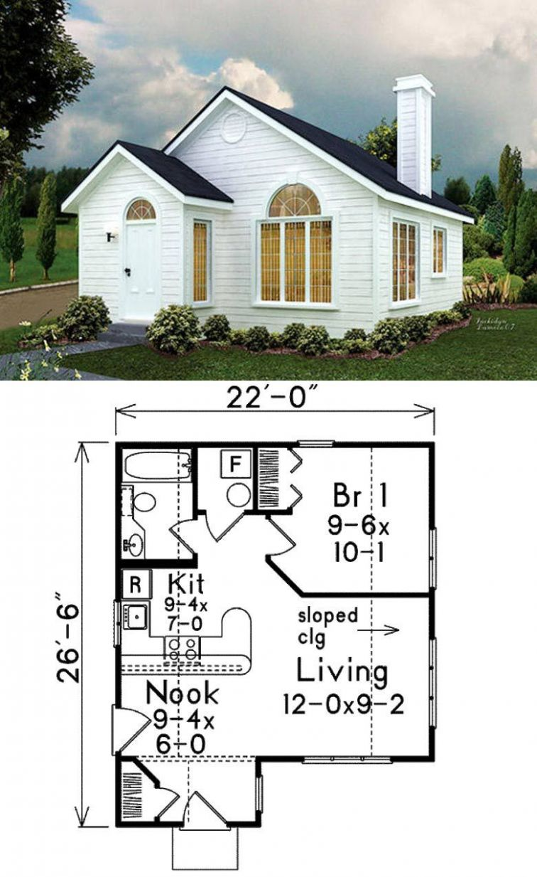 8 Adorable Free Tiny House Floor Plans | Small house floor plans ..