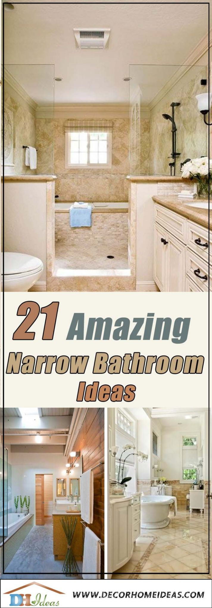 8 Amazing Narrow Bathroom Ideas - bathroom ideas long and narrow