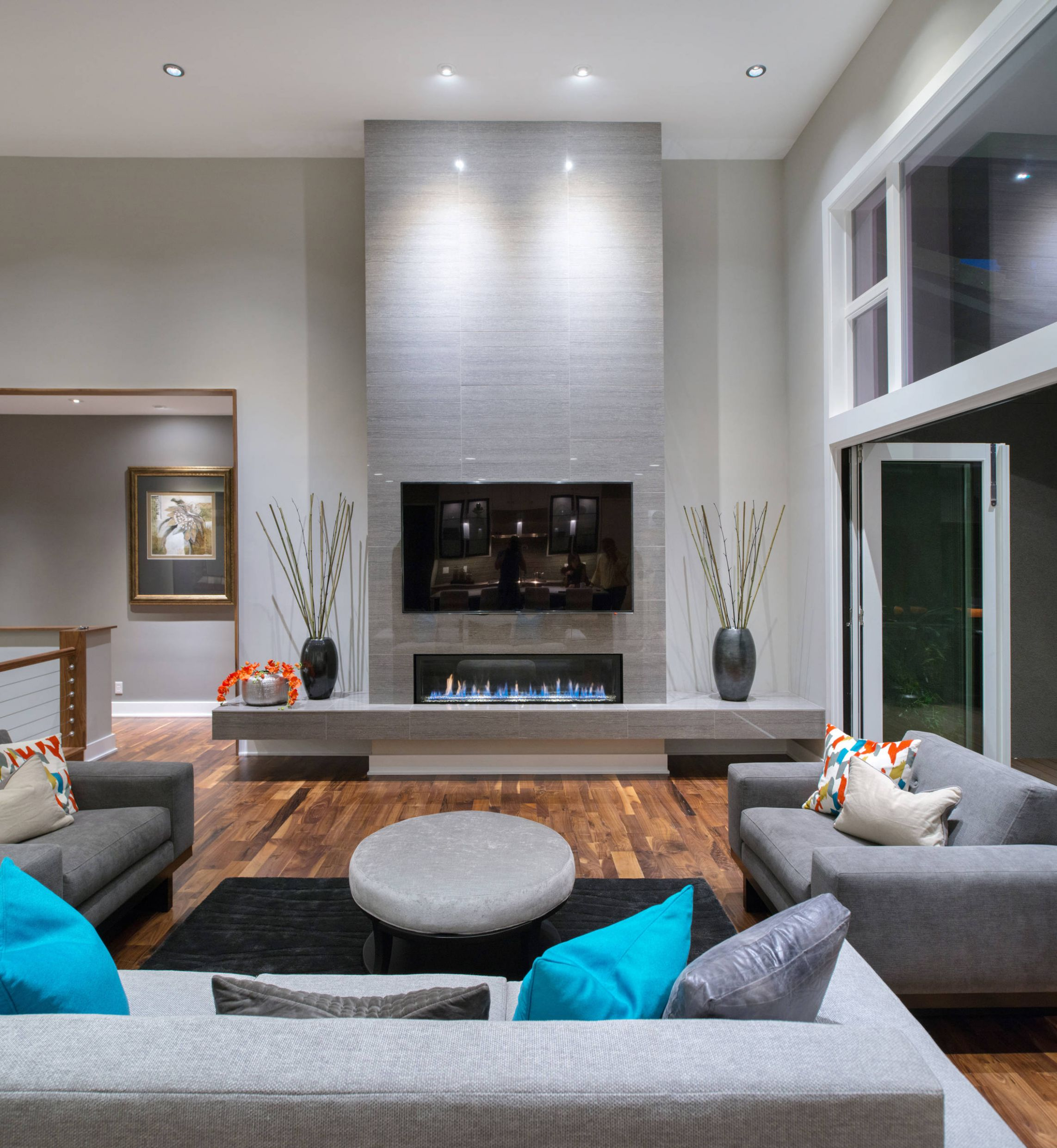 8 Beautiful Gray Living Room Pictures & Ideas | Houzz - modern dining room ideas houzz