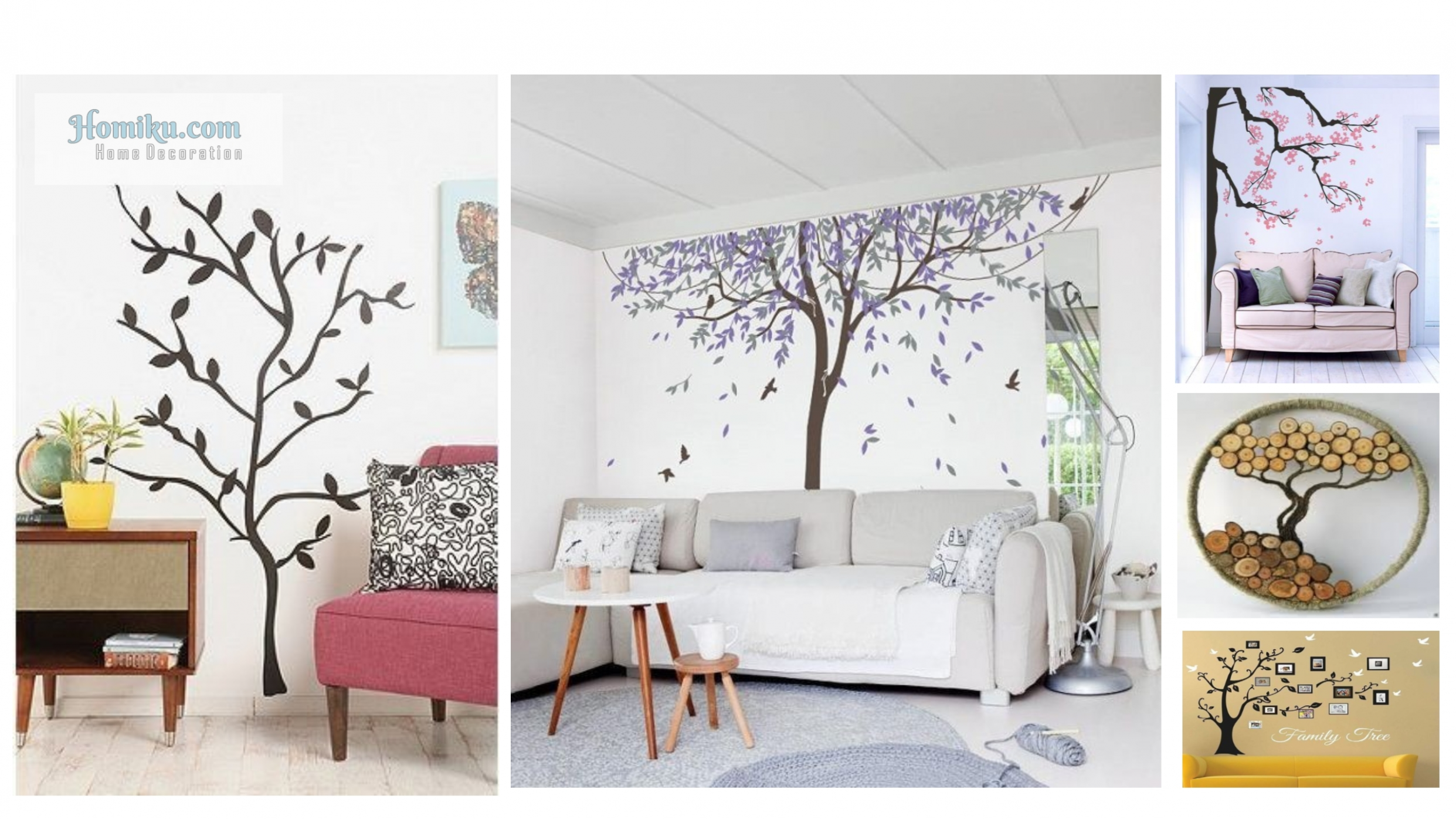 8 Beautiful Wall Tree Decorating Ideas for Your Apartment ...
