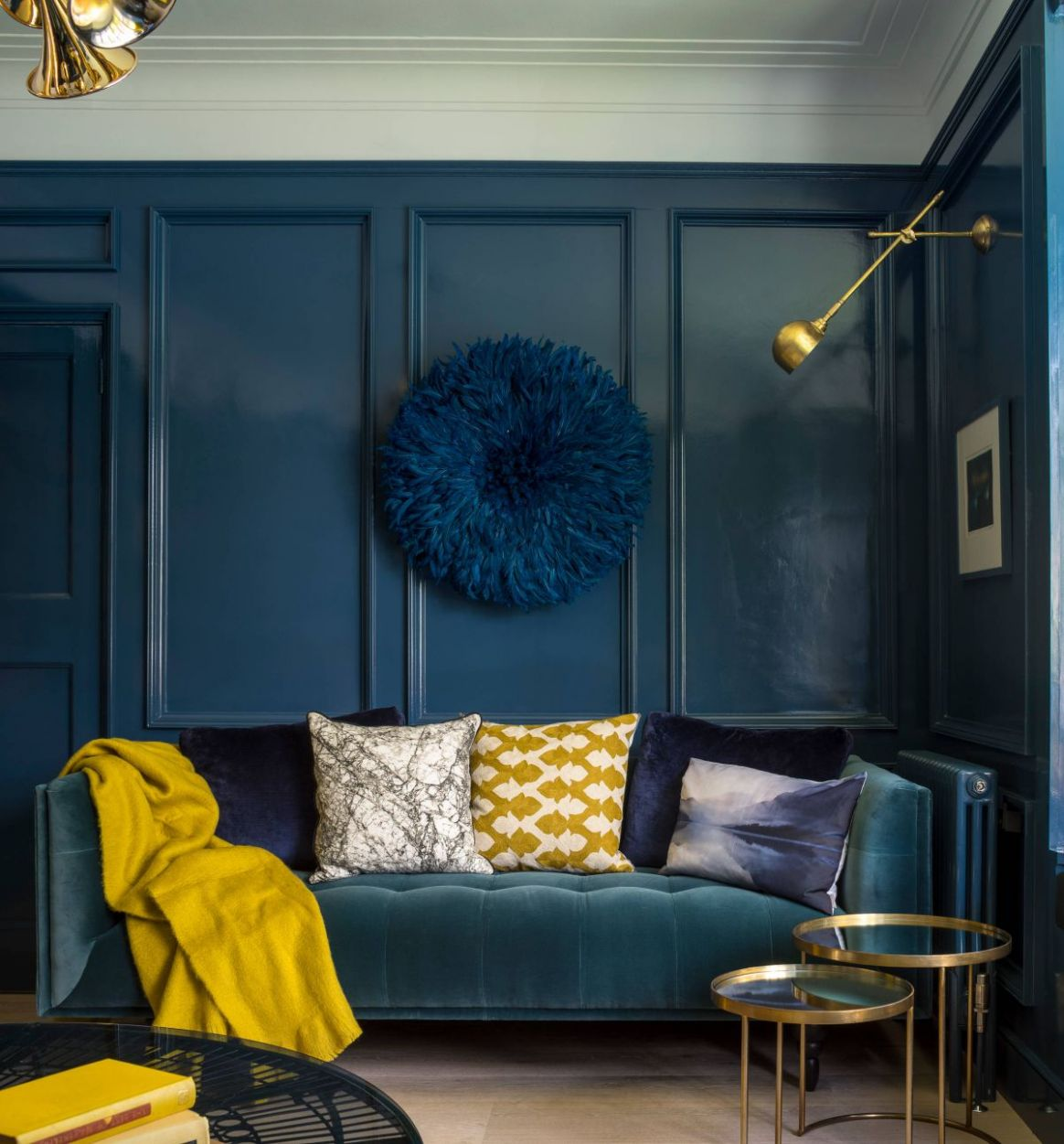 8 Blue Living Rooms Made For Relaxing - living room ideas yellow and blue
