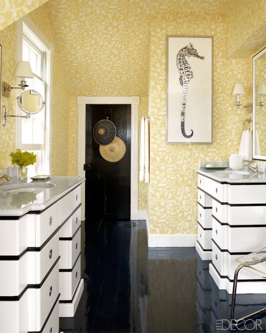 8 Cheerful Yellow Bathroom Decor Ideas - Yellow Bathroom Accessories - bathroom ideas yellow