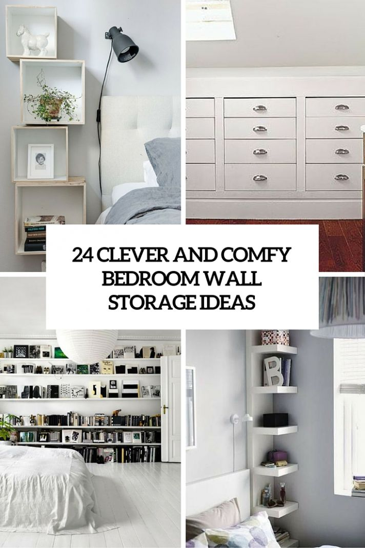 8 Clever And Comfy Bedroom Wall Storage Ideas - Shelterness