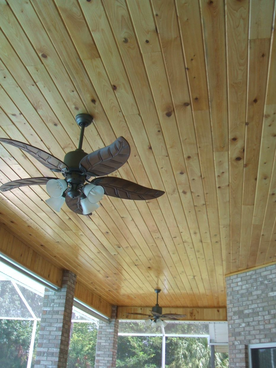 8 Common Cypress, Patio Ceiling, Tongue & Groove V-Joint ..