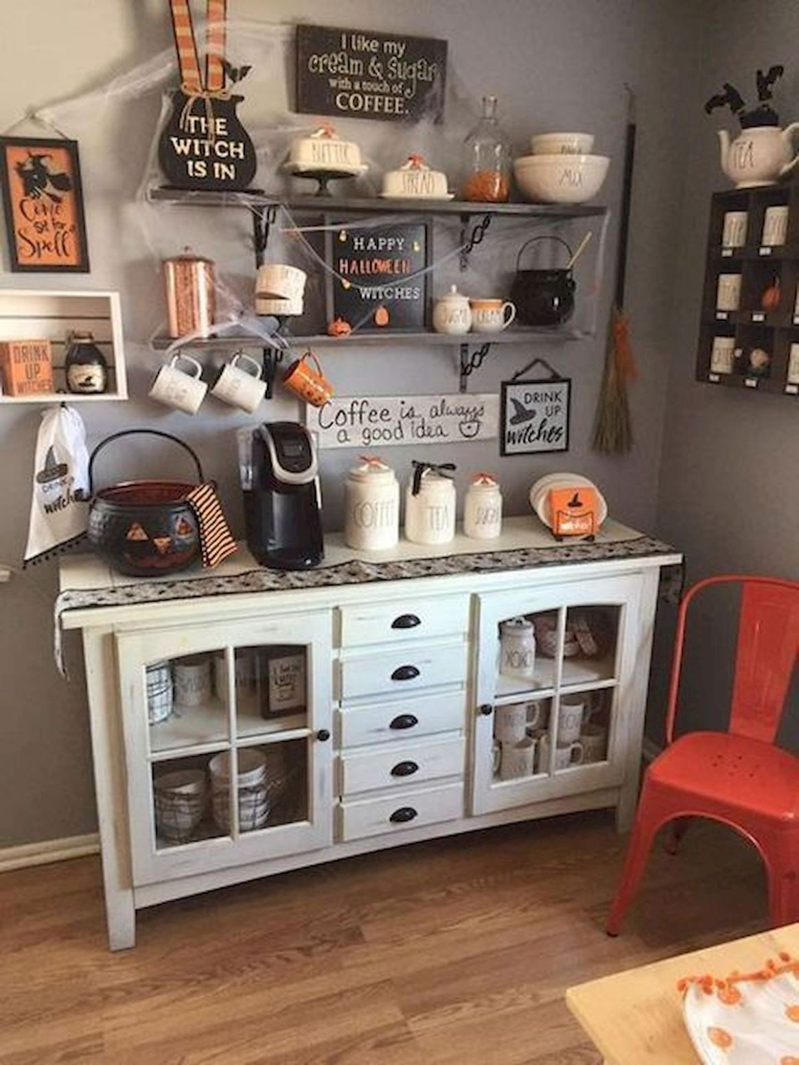 8 Cool Kitchen Cabinet Ideas for Halloween - bozideas