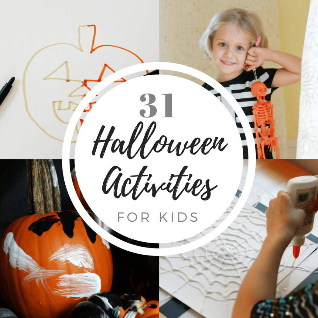 8 Days of Halloween Activities for Kids (with Free Printable!) - halloween ideas activity
