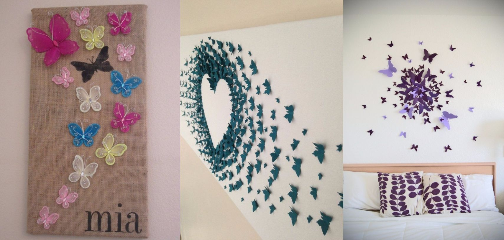 8 DIY Butterfly Wall Decor Ideas With Directions - A DIY Projects - wall decoration ideas with ribbons