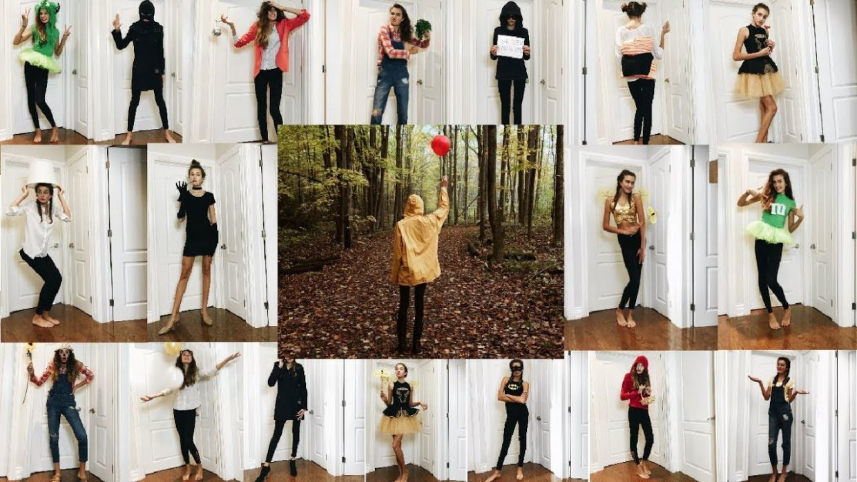 8 DIY Halloween COSTUME IDEAS with things in your closet! // 817 - closet costume ideas