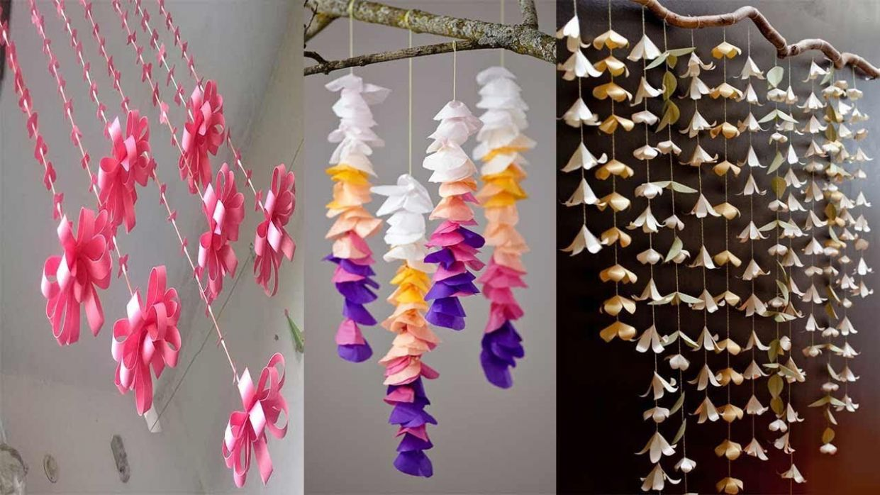 8 DIY ROOM DECOR WALL HANGING IDEAS WITH PAPER | PAPER CRAFT WALL HANGING |  Easy PAPER Crafts Ideas