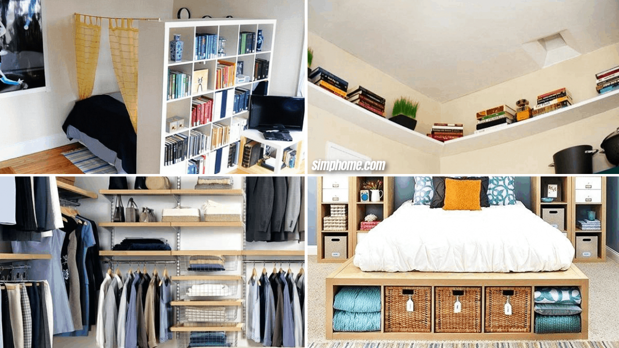 8 DIY Small Bedroom Storage Ideas - Simphome