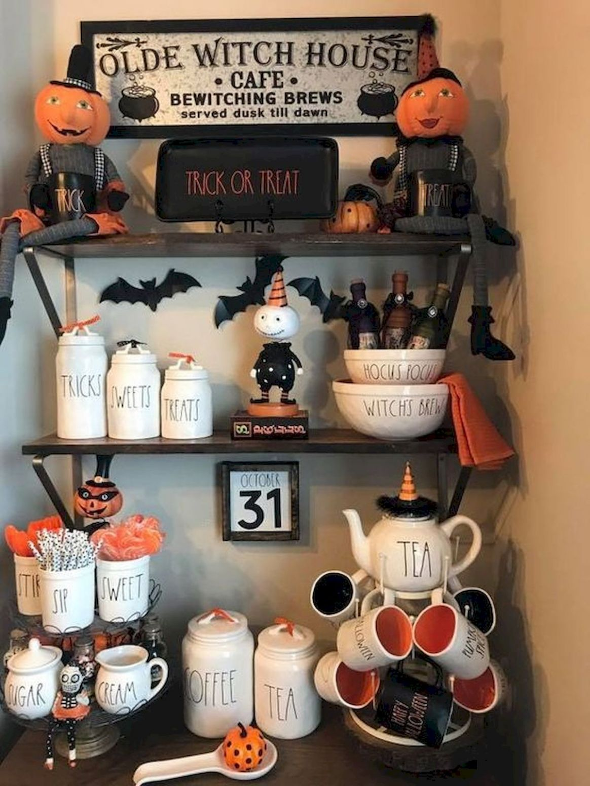 8 Gorgeous Halloween Kitchen Cabinets Decor Ideas - artmyideas - halloween kitchen ideas