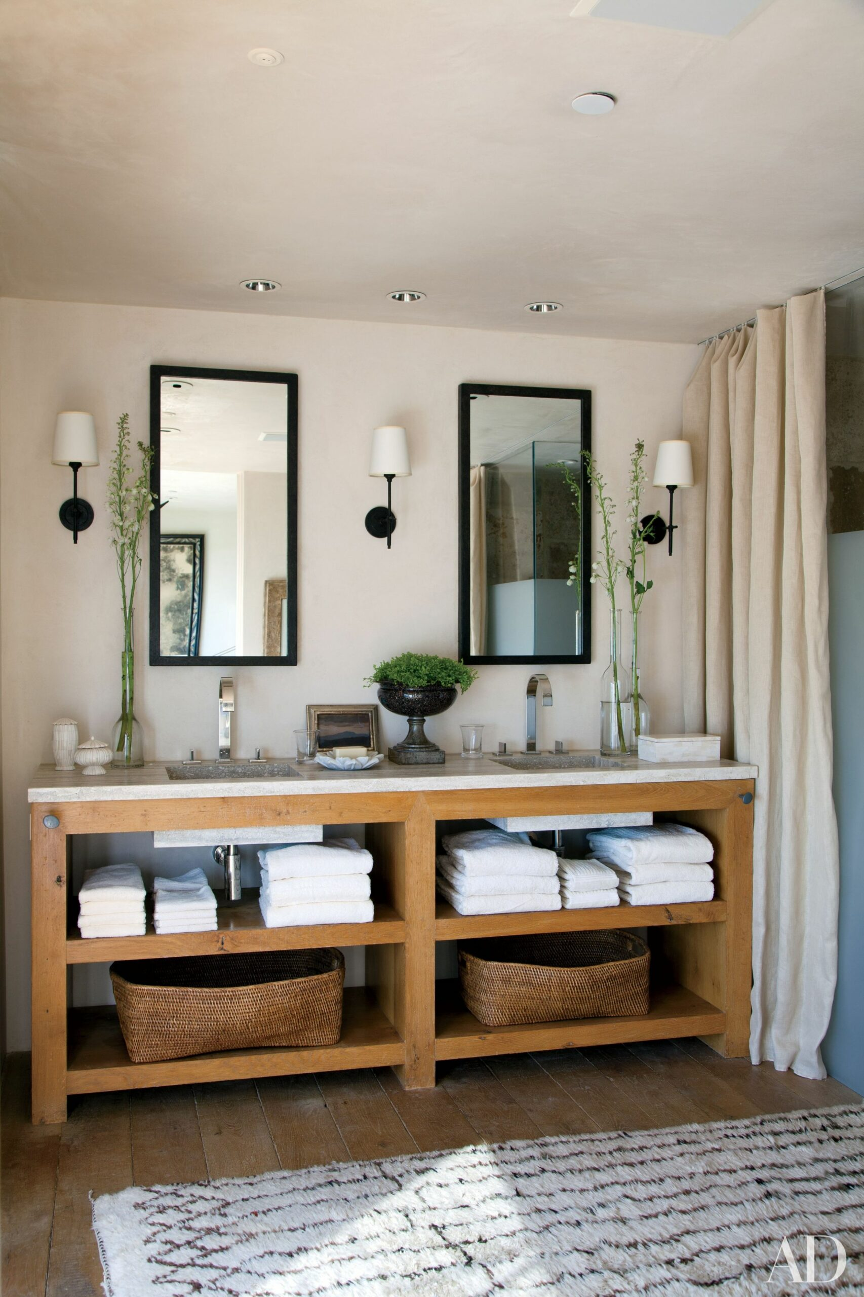 8 Great Ideas for Bathroom Double Vanities   Architectural Digest