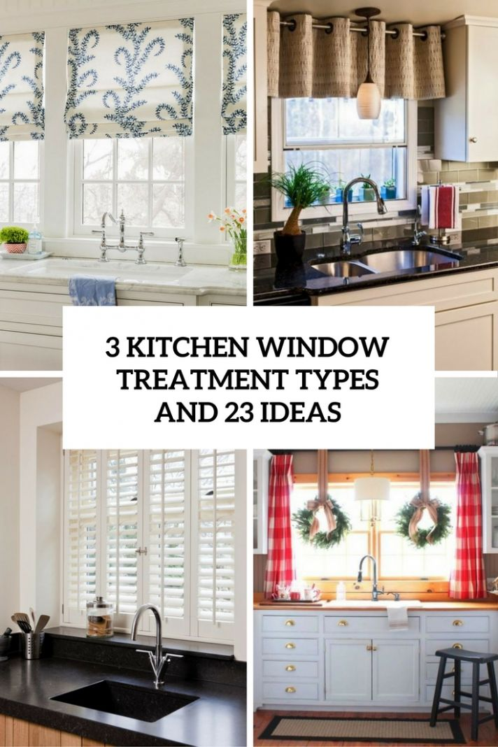 8 Kitchen Window Treatment Types And 28 Ideas - Shelterness - window ideas in kitchen