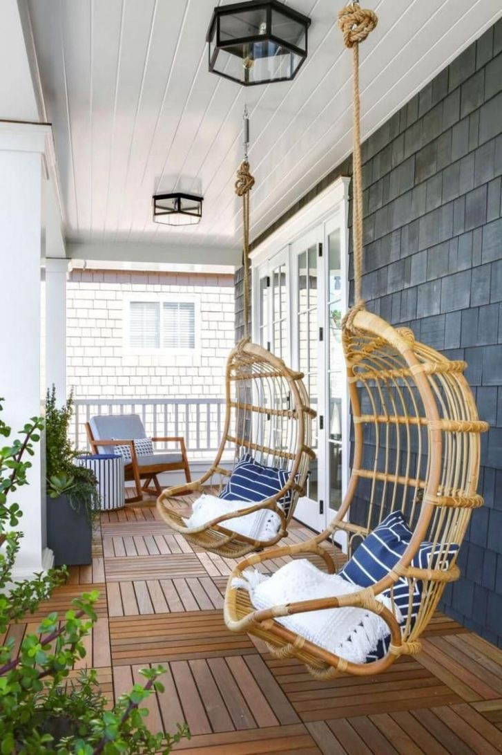 8 Pretty And Simple Balcony Ceiling Ideas | Porch chairs, Porch ..