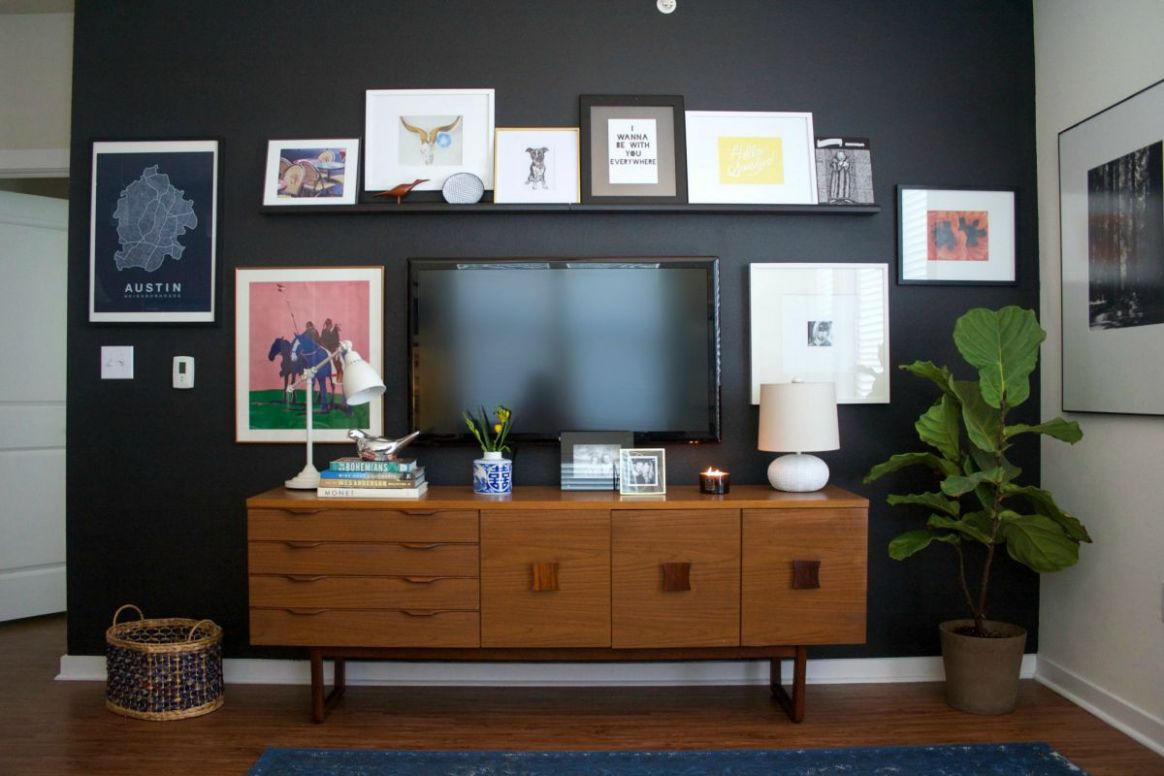 8 Tips for Decorating Around Your Mounted TV - wall decor ideas with tv