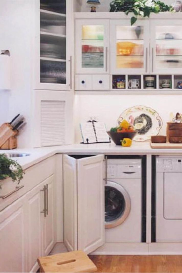 8 Useful Laundry in Kitchen Design Ideas