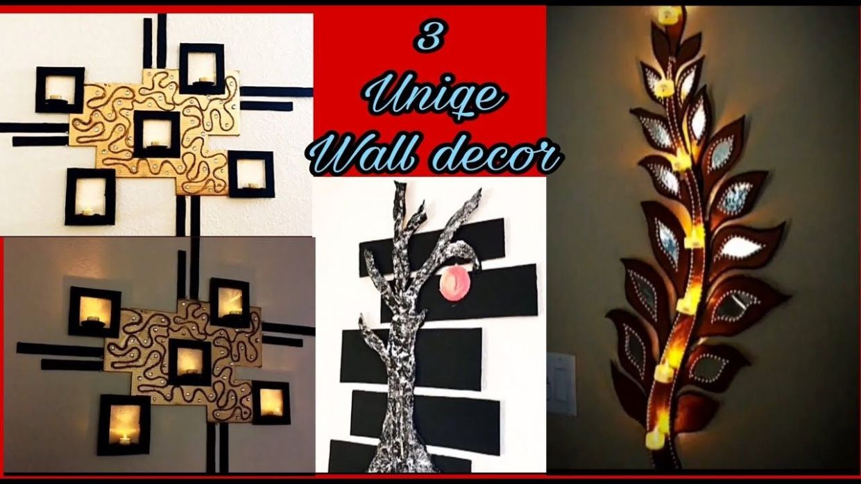 8 Wall decoration crafts/Best out of waste/Handmade decoration ..