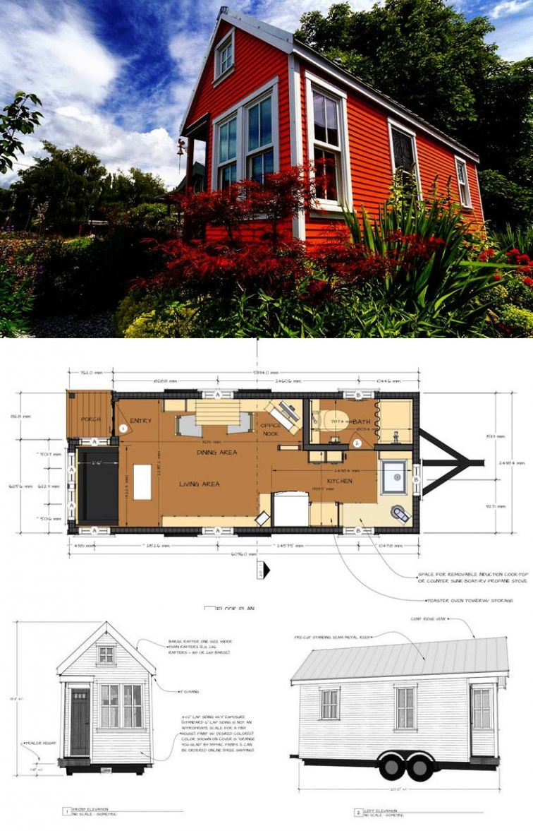9 Adorable Free Tiny House Floor Plans - Craft-Mart - tiny house on wheels plans