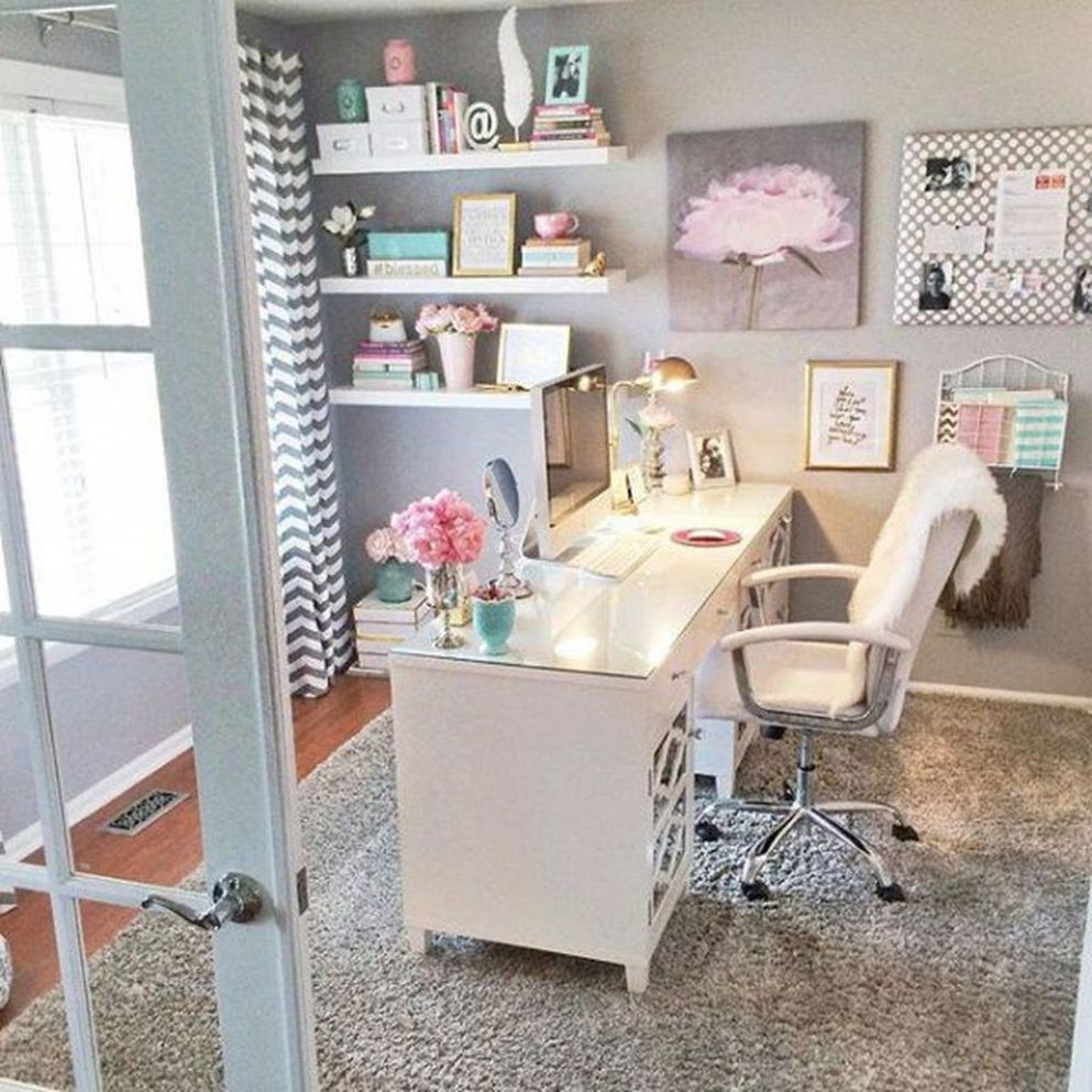 9+ Affordable Diy Home Office Decor Ideas With Tutorials - HOMYRACKS - diy home office decor