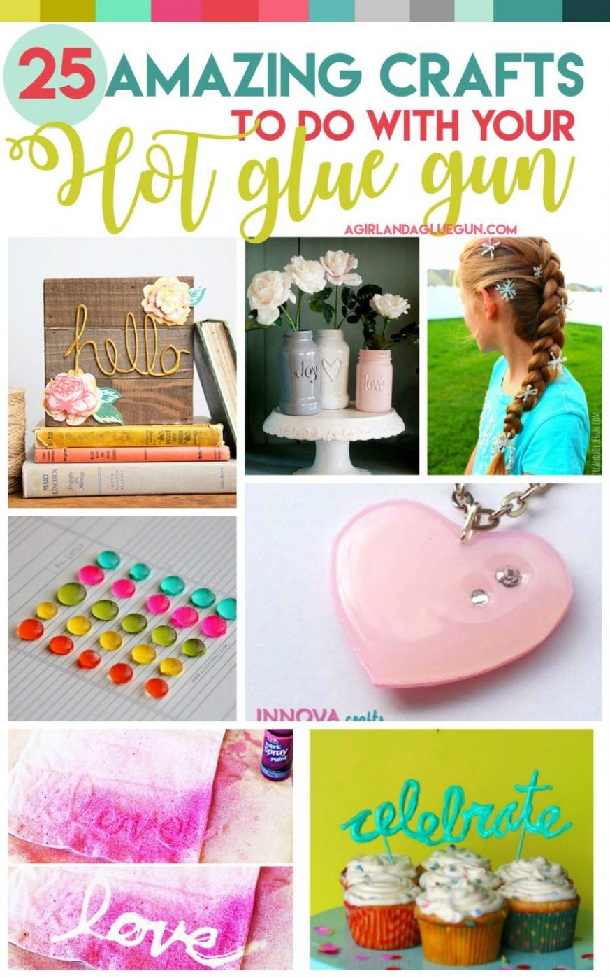9 amazing crafts to do with your Hot Glue Gun - A girl and a glue gun