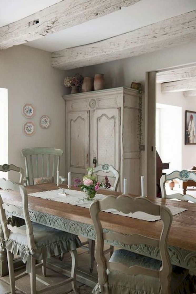 9+ Awesome Vintage French Country Dining Room Design Ideas