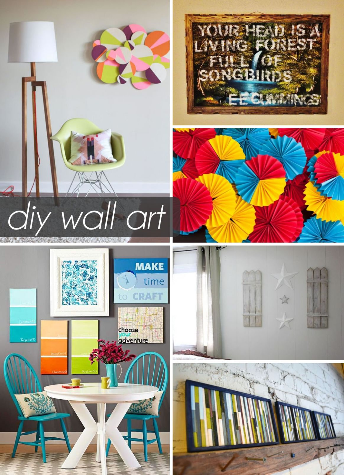 9 Beautiful DIY Wall Art Ideas For Your Home - wall decoration ideas make