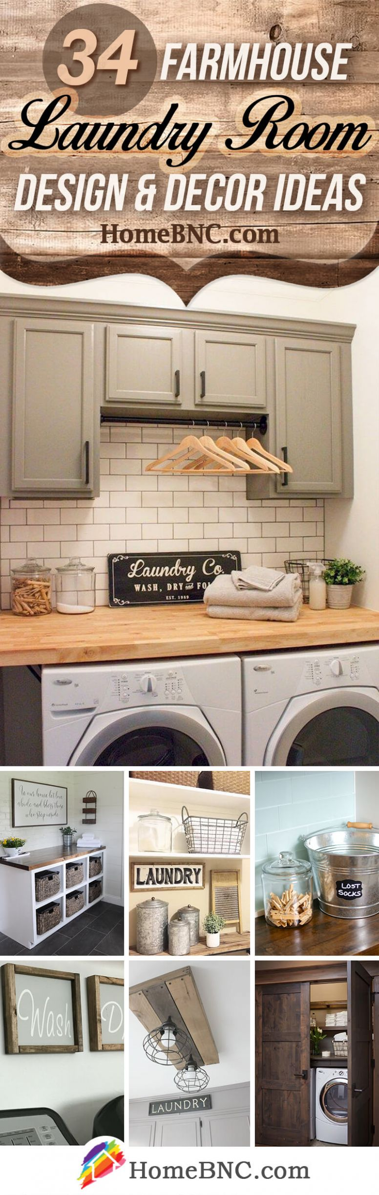 9 Best Farmhouse Laundry Room Decor Ideas and Designs for 9 - laundry room ideas decor