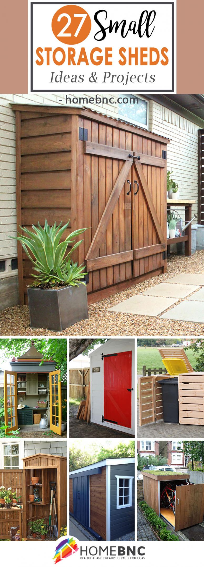 9 Best Small Storage Shed Projects (Ideas and Designs) for 9 - balcony shed ideas
