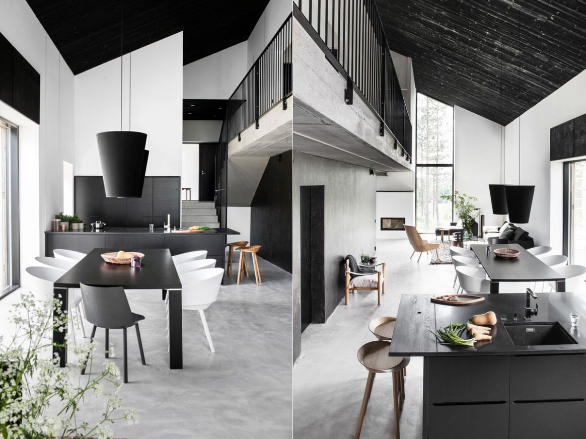 9 Black & White Dining Rooms That Work Their Monochrome Magic - dining room ideas black and white