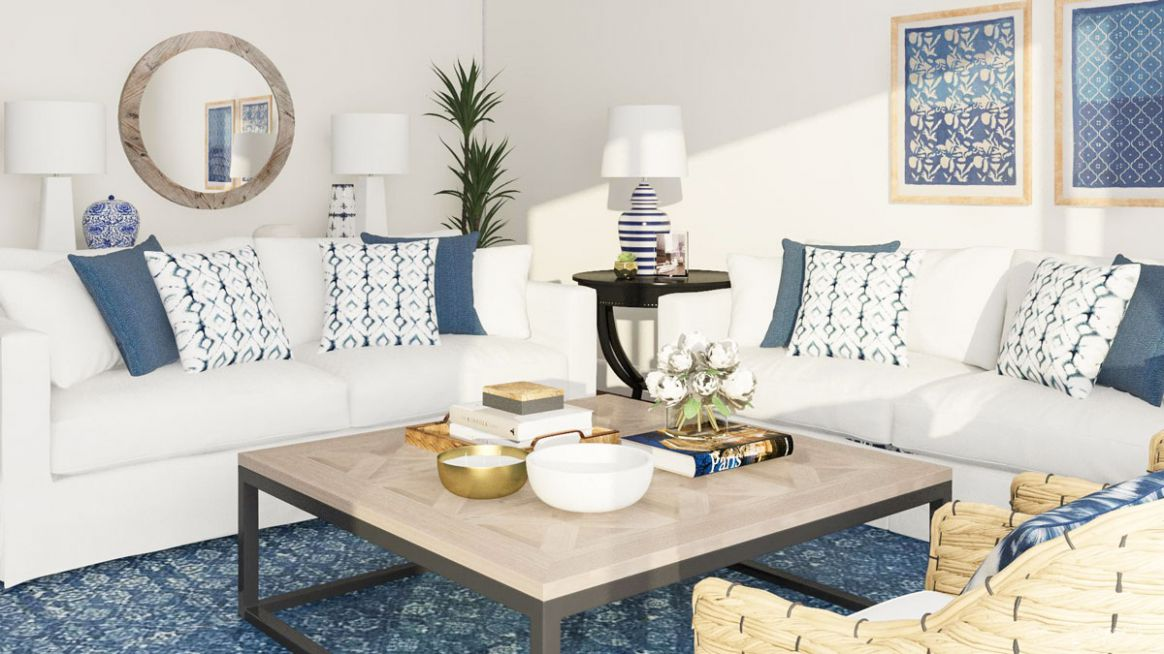 9 Blue Living Room Ideas from Our Designers' Playbook | Modsy Blog