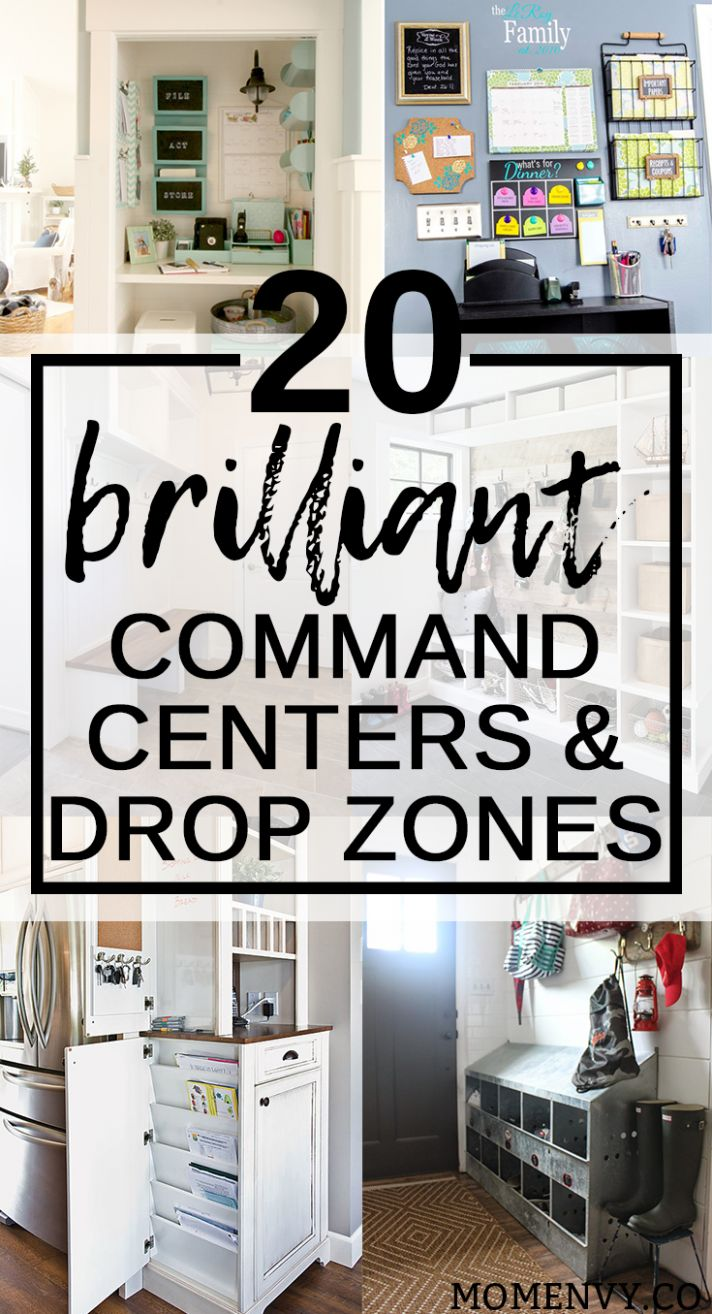 9 Brilliant Command Centers and Family Drop Zones