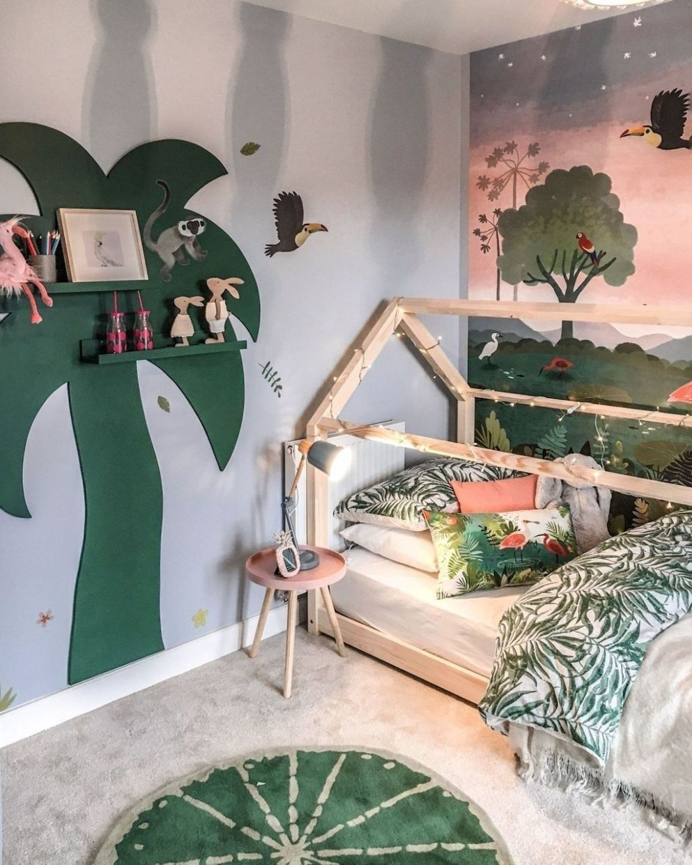 9+ Charming Kids Bedroom Ideas With Jungle Theme To Try ..