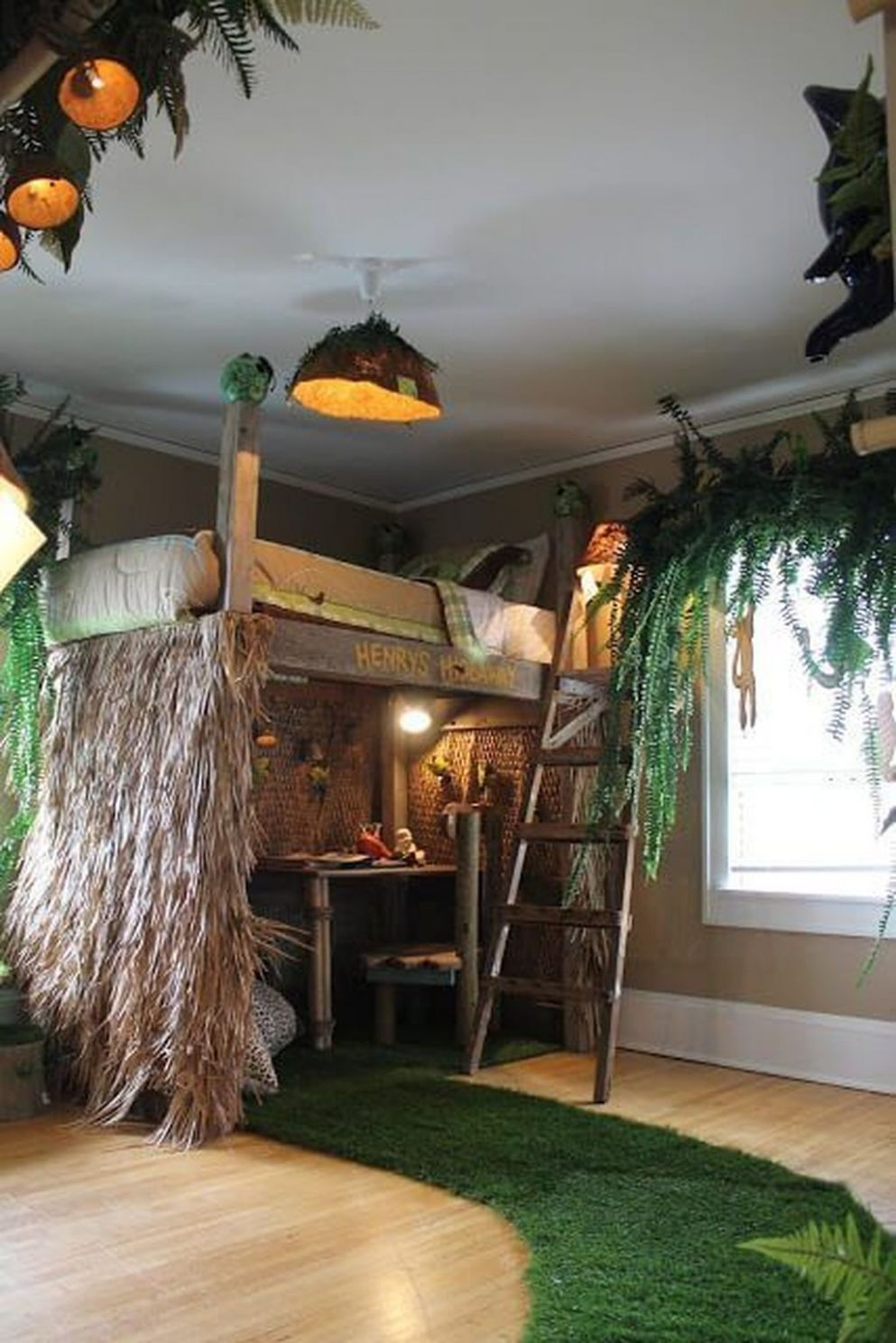 9+ Charming Kids Bedroom Ideas With Jungle Theme To Try | Jungle ..