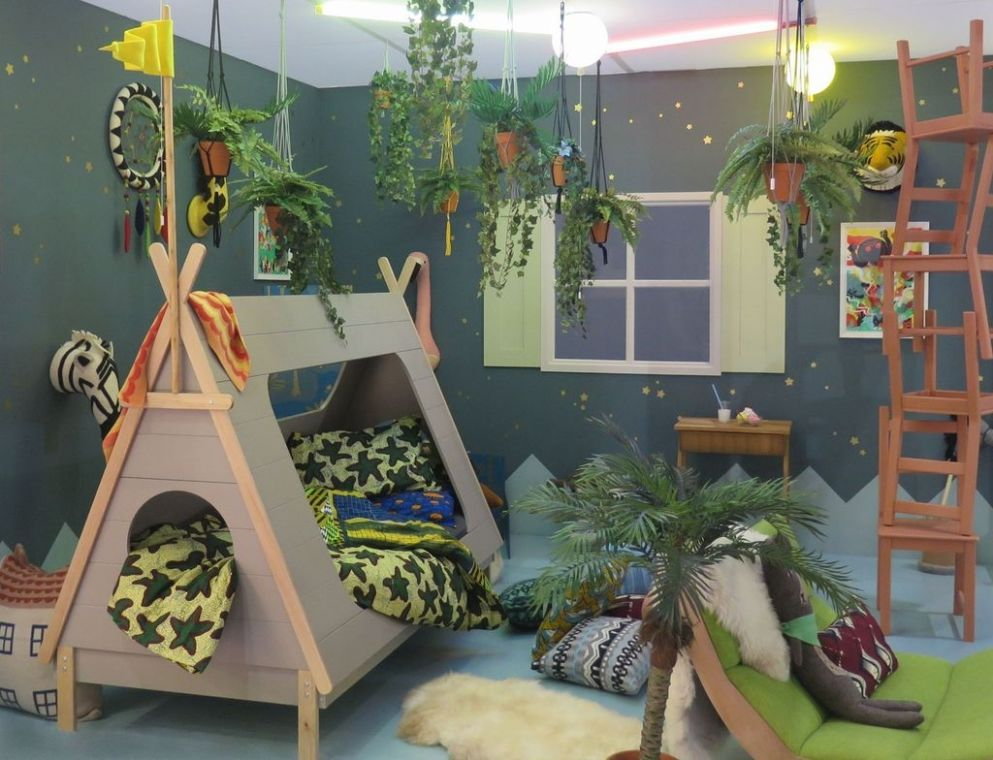9+ Charming Kids Bedroom Ideas With Jungle Theme To Try - TRENDEDECOR - childrens bedroom ideas jungle