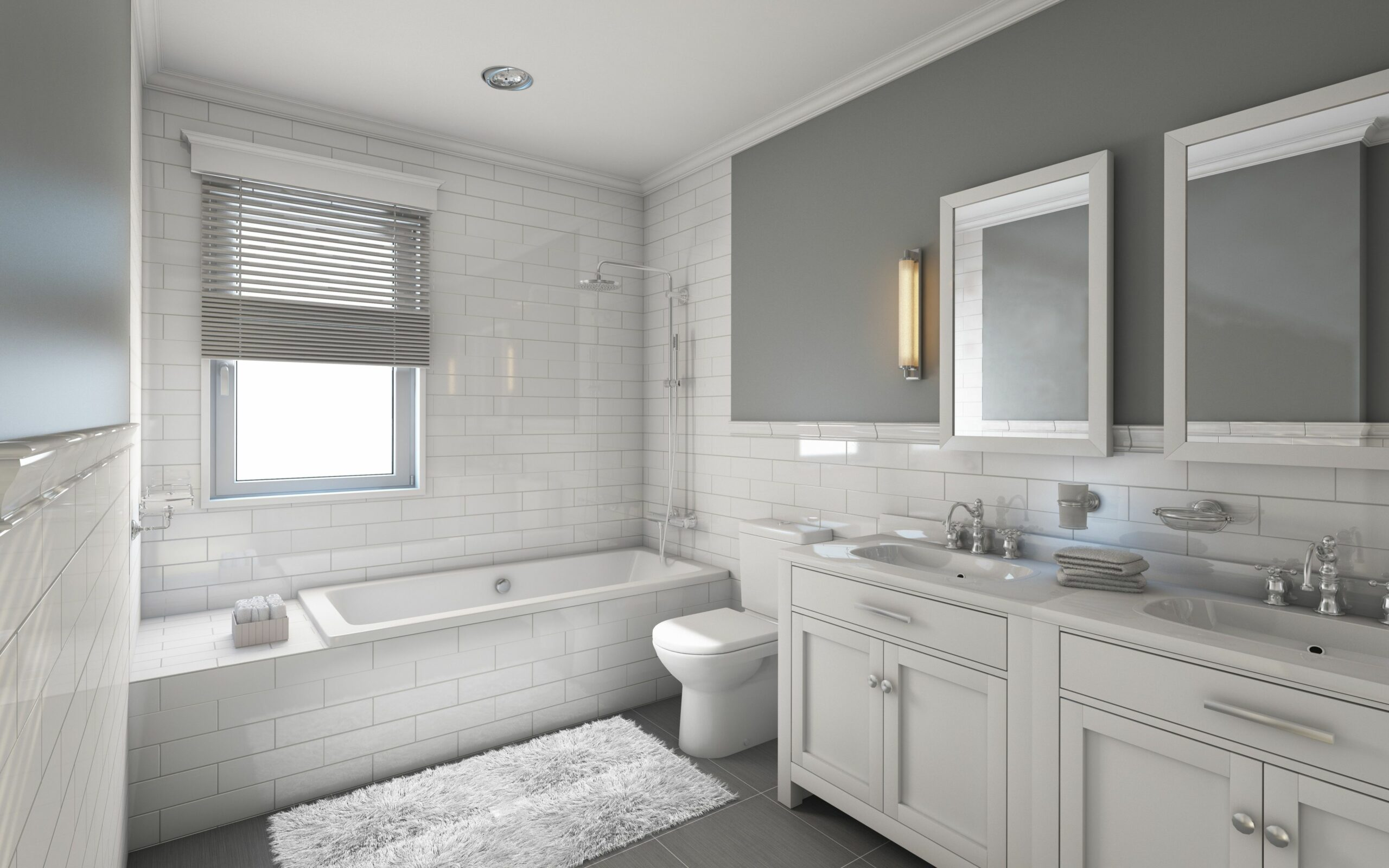 9 Classic Gray and White Bathrooms - bathroom ideas light grey