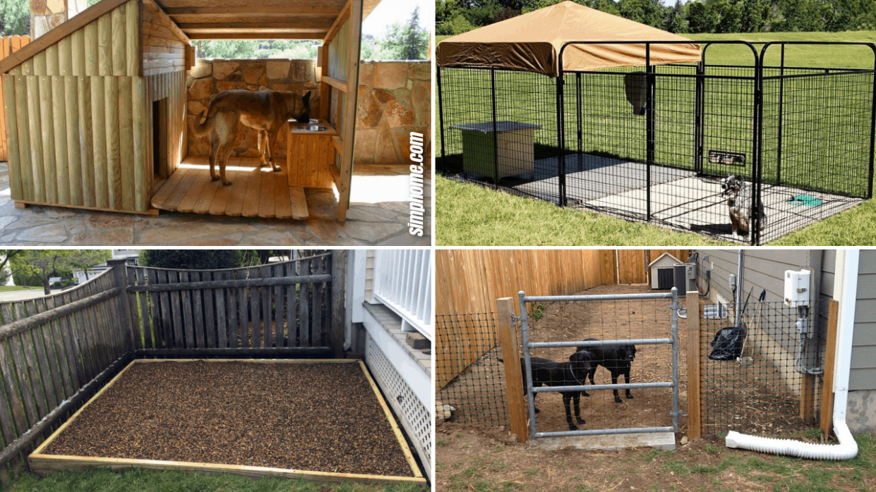 9+ Clever Designs of How to Build Backyard Dog Kennel Ideas ..
