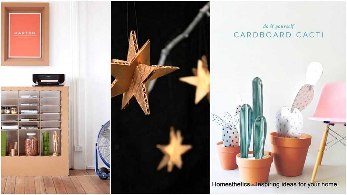 9 Clever DIY Ways To Use Cardboard In Your Home Decor ..