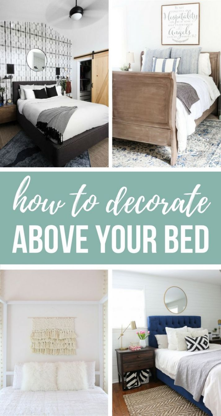 9 Designer Worthy Ideas For Over The Bed Decor | Bedroom wall ...