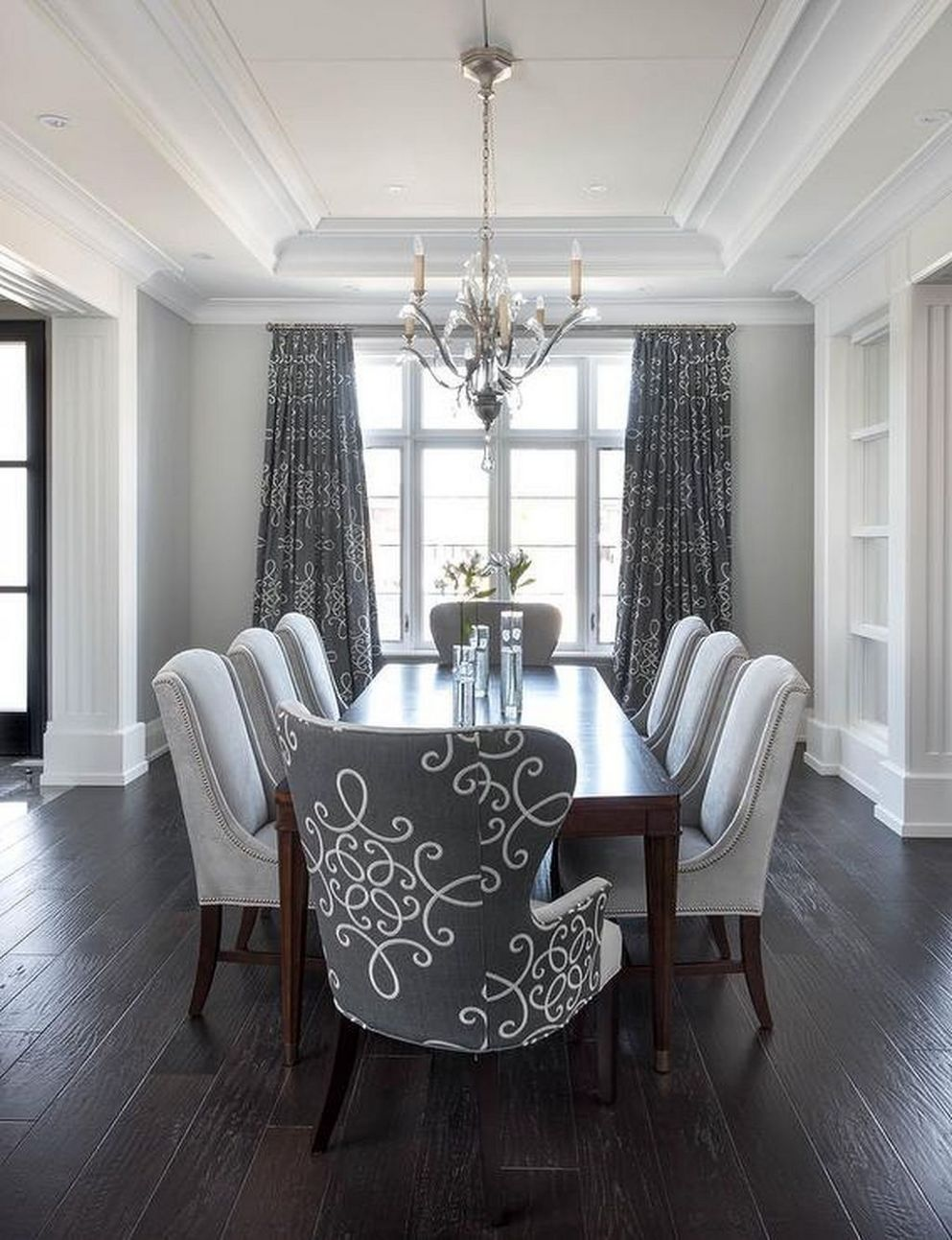 9 Dining Room Arrangement Ideas 9 | Dining room drapes, Dining ..