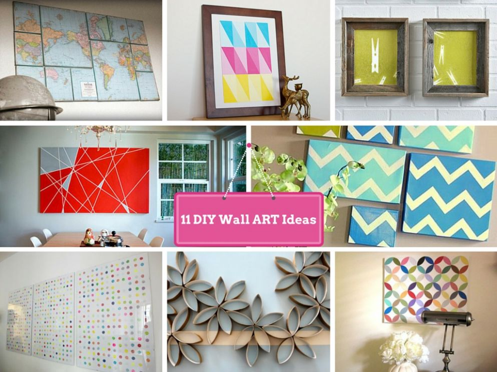 9 DIY Wall Decorating Ideas To Do Makeover of Boring Walls - wall decoration ideas make